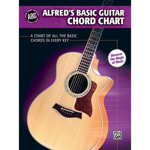 Alfred 00-28386 Basic Guitar Chord Chart - Music Book : Sheet Music ...