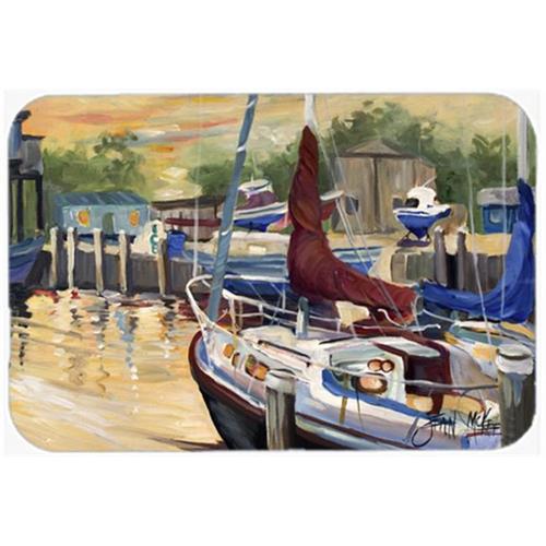 Carolines Treasures JMK1083MP New Sunset Bay Sailboat Mouse Pad Hot Pad & Trivet