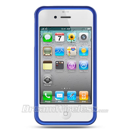 DreamWireless IP-CRIP4BL iPhone 4S & iPhone 4 Compatible Hd Rubber Case - Blue