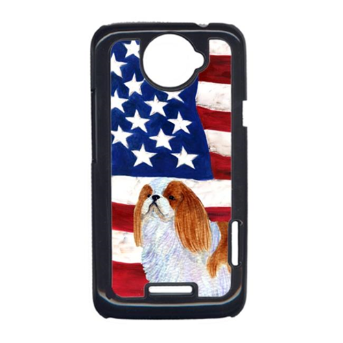 Carolines Treasures SS4034HTCONE USA American Flag With English Toy Spaiel USA HTC One X Cell Phone Cover