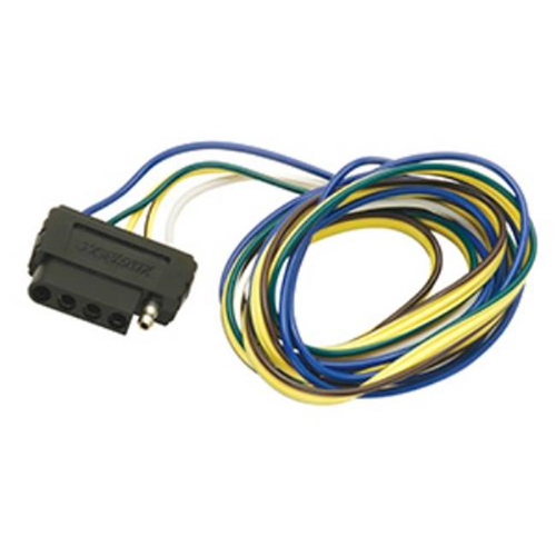 Wesbar 702305 5-Flat Car End Connector 4 Ft. Wishbone Harness 18 In. Ground 4 Ft. Auxiliary 4.50 x 3 x 1.50 in.