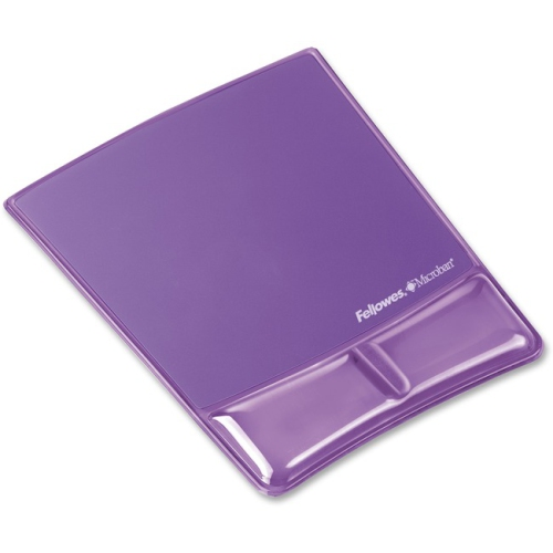 Fellowes FEL9183501 Gel Wrist Support with Attached Mouse Pad, Purple