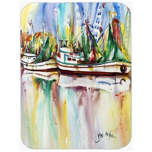 Carolines Treasures JMK1156MP Ocean Springs Shrimp Boats Mouse Pad Hot Pad & Trivet