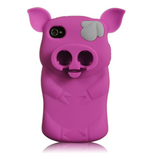 DreamWireless IP-HESCIP4VZPIGHP Sniffie Piggie High-End Skin Case For iPhone 4S & 4 - Hot Pink