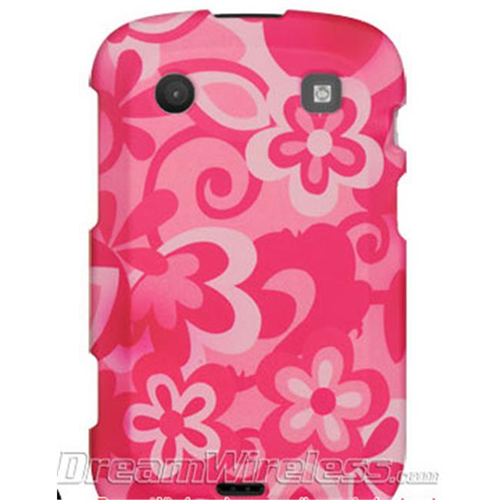 DreamWireless CRBB9900HPCOFL Blackberry Bold Touch 9900 & 9930 Crystal Rubber Case Hot Pink Combo Flower