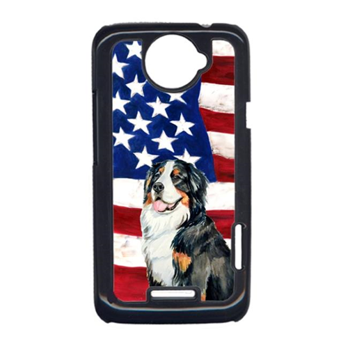 Carolines Treasures LH9003HTCONE USA American Flag With Bernese Mountain Dog HTC One X Cell Phone Cover