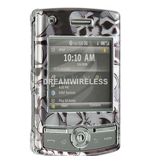 DreamWireless CASAMI627BKSK Samsung Propel Pro I627 Crystal Case Black Skull - AT & T