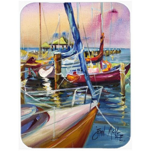 Carolines Treasures JMK1165MP Purple Sailboats Mouse Pad Hot Pad & Trivet