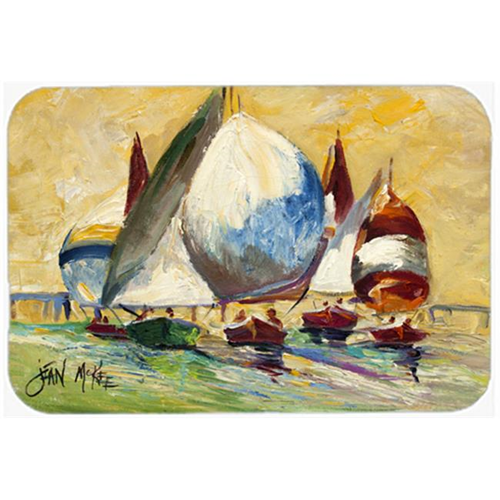Carolines Treasures JMK1033MP Bimini Sails Sailboat Mouse Pad Hot Pad & Trivet