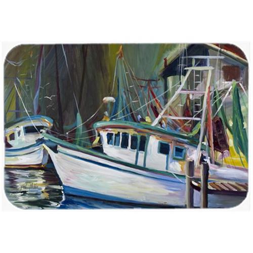 Carolines Treasures JMK1058MP Joe Patti Shrimp Boat Mouse Pad Hot Pad & Trivet