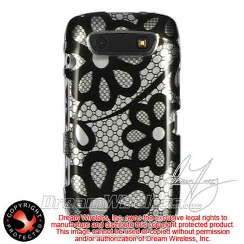 DreamWireless CABB9570BKLACE Blackberry Torch 9850 9860 Monza Storm 3 Crystal Case Black Lace