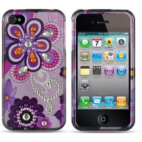 Dreamwireless Fitted Hard Shell Case for iPhone 4S; iPhone 4 - Purple