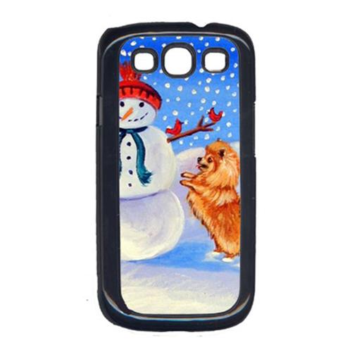 Carolines Treasures 7151GALAXYSIII Snowman With Pomeranian Cell Phone Cover Galaxy S111
