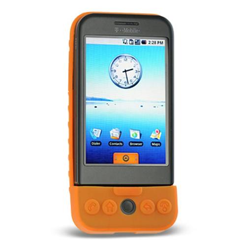 DreamWireless SCHTCG1OR-PR HTC Dream & G1 Premium Skin Case - Orange