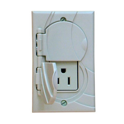 StayConnect IR300-GNH-V Gfci Outlet Cover No Hook - Ivory