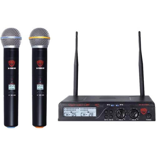 Nady U-2100 HT BAND A-B Dual UHF Wireless Handheld Microphone System Black