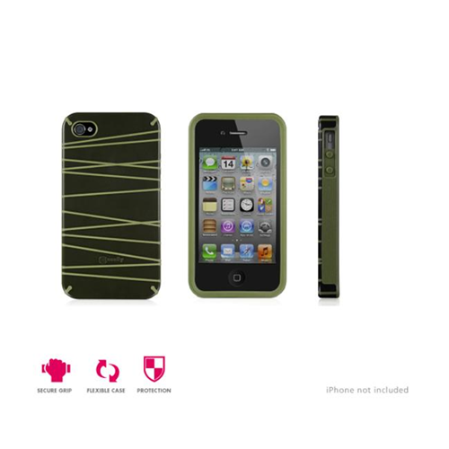 Macally GloBG Protective Case for iPhone 4S-4 Black