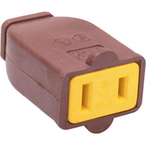 Pass & Seymour SA155CC10 Polarized Connector 15A Brown