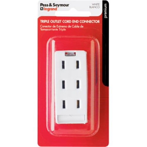 Pass & Seymour 2603WBPCC10 Triple Outlet 10A 125V White