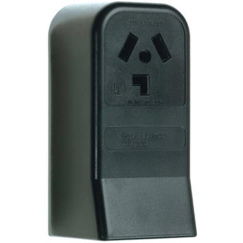 Pass & Seymour 388CC6 30A 3 Pole 3 Wire Not Grounding Surface Mount Dryer Outlet Black