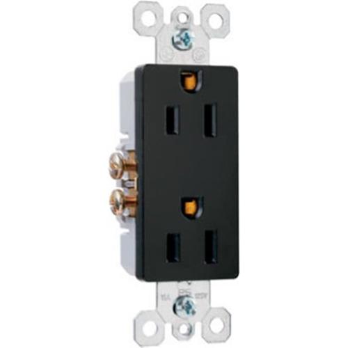 Pass & Seymour 885BKCC12 Decorator Outlet 15A Black