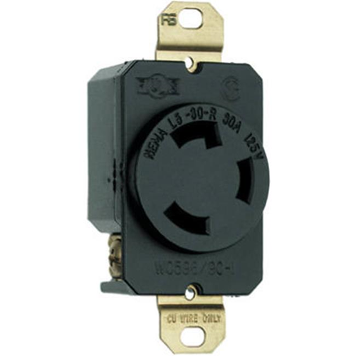 Pass & Seymour L530RCCV3 Locking Outlet 30A Black