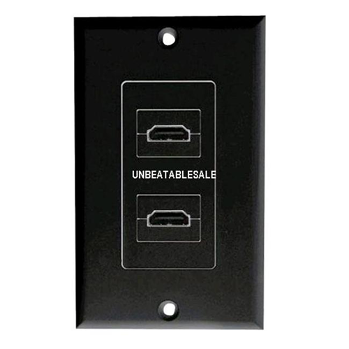 Pyle Tri Hdmi Black Wallplate Connector - PHDMRB2