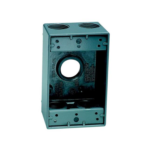 Sigma Electric 14253-5 Outlet Box Gray - 4.5 x 2.80 x 2 in.