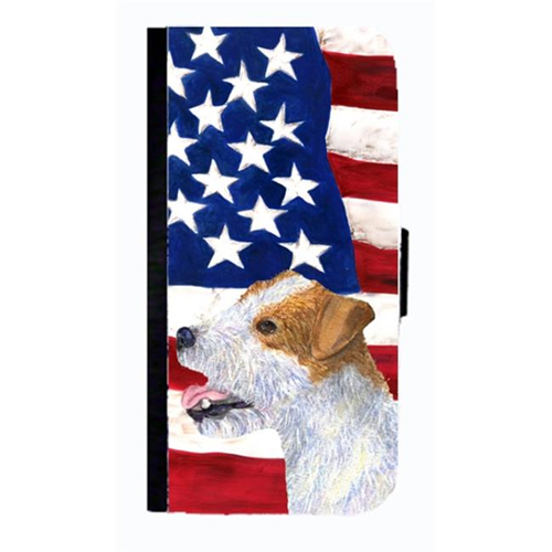 Carolines Treasures SS4031NBGALAXYS4 USA American Flag With Jack Russell Terrier Cell Phone Case Cover For Galaxy 4S