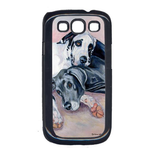 Carolines Treasures 7164GALAXYSIII Harlequin And Bule Natural Great Danes Galaxy S111 Cell Phone Cover