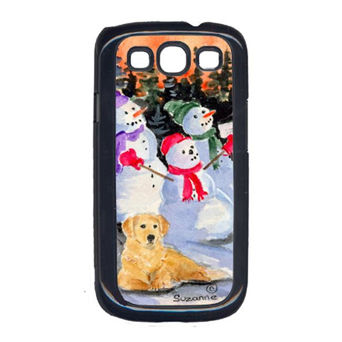Carolines Treasures SS8989GALAXYSIII Snowman With Golden Retriever Galaxy S111 Cell Phone Cover
