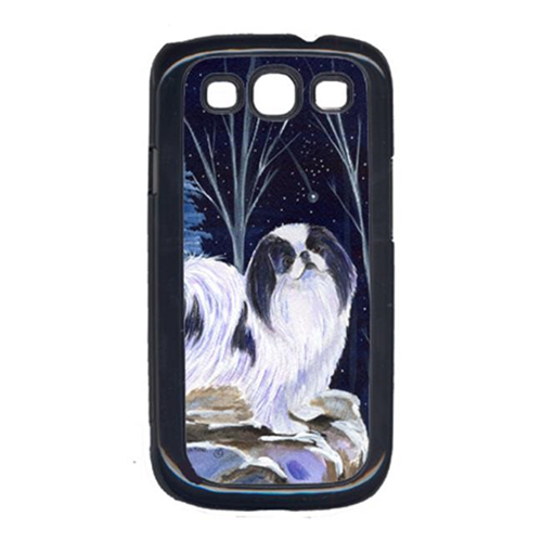Carolines Treasures SS8374GALAXYSIII Starry Night Japanese Chin Galaxy S111 Cell Phone Cover