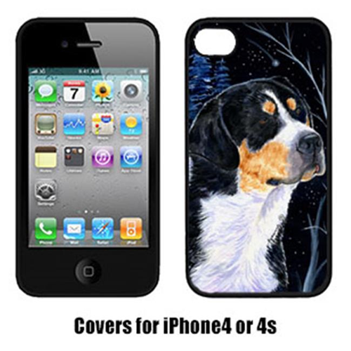 Carolines Treasures SS8393IP4 Starry Night Bernese Mountain Dog Cell Phone cover IPhone 4