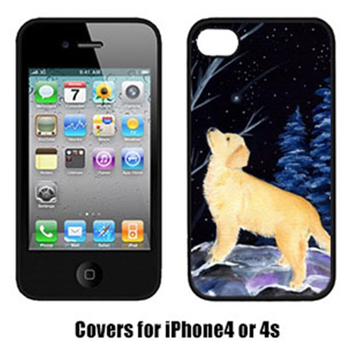 Carolines Treasures SS8392IP4 Starry Night Golden Retriever Cell Phone cover IPhone 4