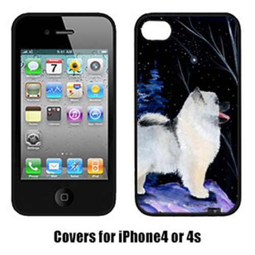 Carolines Treasures SS8380IP4 Starry Night Keeshond Cell Phone cover IPhone 4