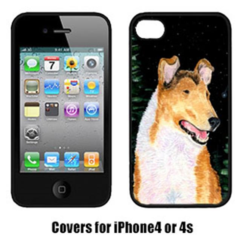 Carolines Treasures SS8484IP4 Starry Night Collie Smooth Cell Phone Cover Iphone 4