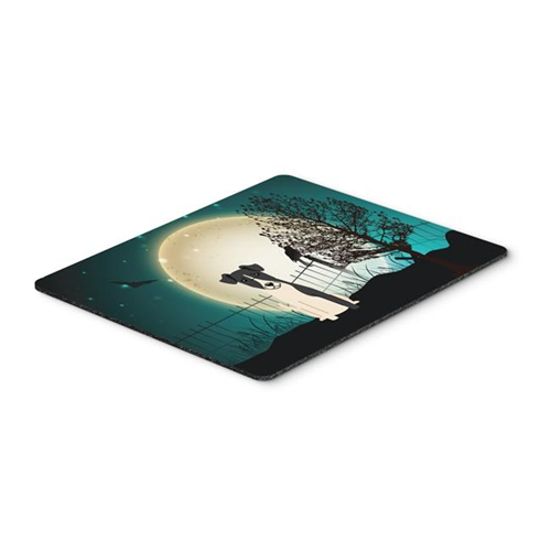 Carolines Treasures BB2288MP Halloween Scary Smooth Fox Terrier Mouse Pad Hot Pad or Trivet