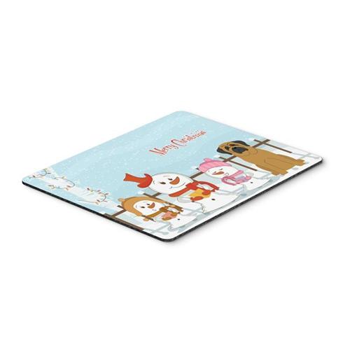 Carolines Treasures BB2349MP Merry Christmas Carolers Mastiff Mouse Pad Hot Pad or Trivet