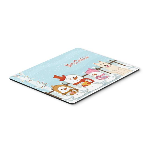 Carolines Treasures BB2376MP Merry Christmas Carolers White German Shepherd Mouse Pad Hot Pad or Trivet