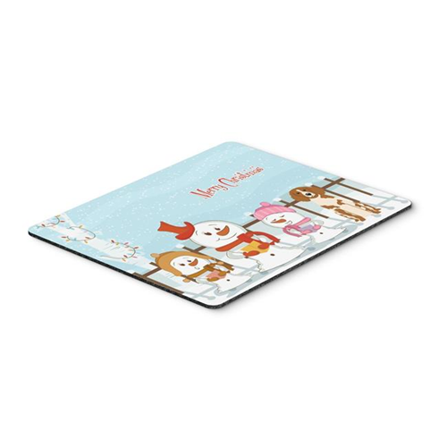 Carolines Treasures BB2403MP Merry Christmas Carolers Brittany Spaniel Mouse Pad Hot Pad or Trivet