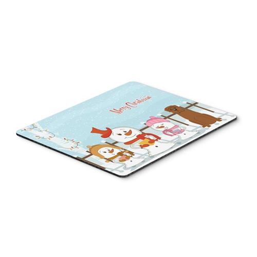 Carolines Treasures BB2404MP Merry Christmas Carolers Dogue De Bourdeaux Mouse Pad Hot Pad or Trivet