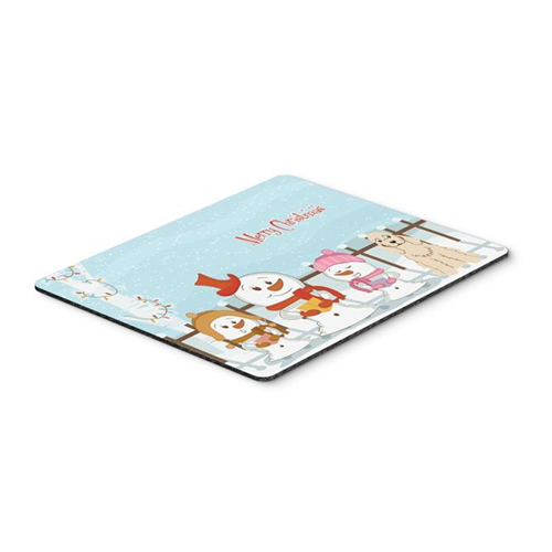 Carolines Treasures BB2425MP Merry Christmas Carolers Cocker Spaniel Buff Mouse Pad Hot Pad or Trivet