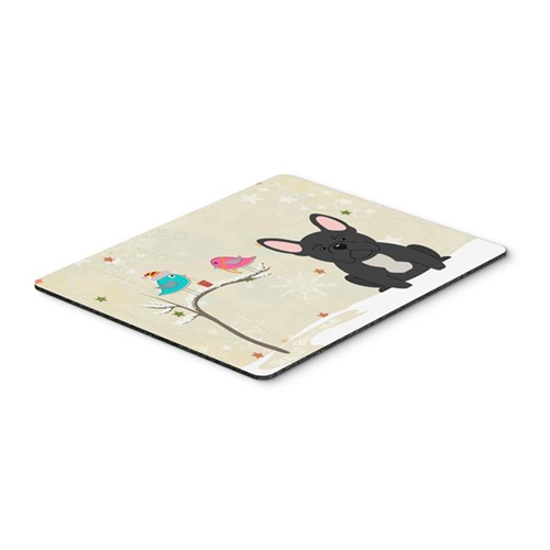 Carolines Treasures BB2486MP Christmas Presents Between Friends French Bulldog Black Mouse Pad Hot Pad or Trivet