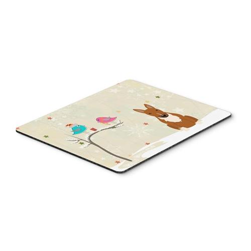 Carolines Treasures BB2606MP Christmas Presents Between Friends Bull Terrier Red Mouse Pad Hot Pad or Trivet