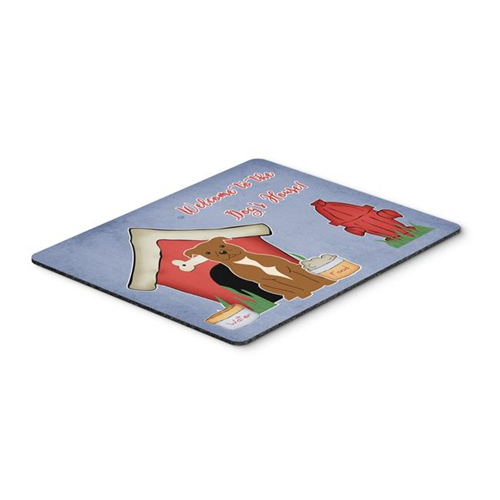 Carolines Treasures BB2801MP Dog House Collection Staffordshire Bull Terrier Brown Mouse Pad Hot Pad or Trivet
