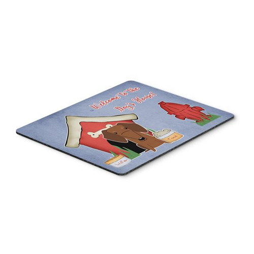 Carolines Treasures BB2884MP Dog House Collection Dachshund Red & Brown Mouse Pad Hot Pad or Trivet