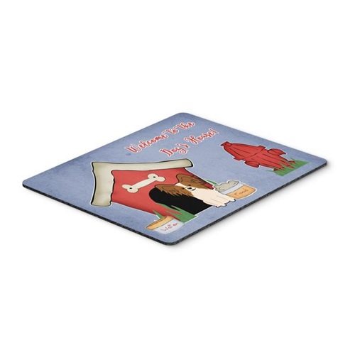 Carolines Treasures BB2832MP Dog House Collection Papillon Red & White Mouse Pad Hot Pad or Trivet