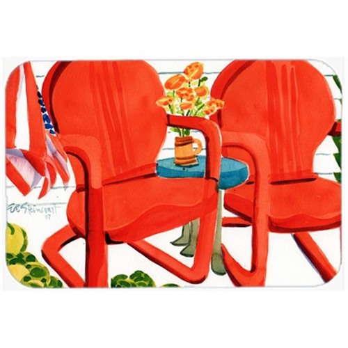 Carolines Treasures 6140MP Red Chairs Patio View Mouse Pad Hot Pad or Trivet