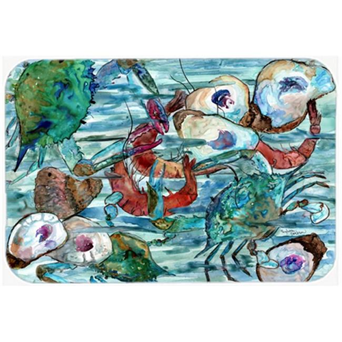 Carolines Treasures 8964MP Watery Shrimp Crabs & Oysters Mouse Pad Hot Pad or Trivet