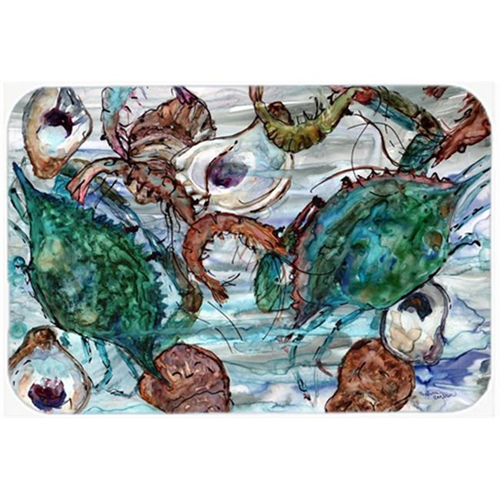 Carolines Treasures 8965MP Shrimp Crabs & Oysters in water Mouse Pad Hot Pad or Trivet